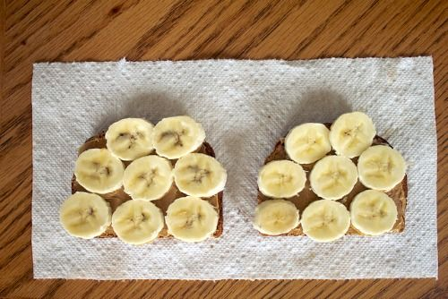 Peanut butter and banana toast is a great protein-rich breakfast for busy mornings - This is our new Thursday morning staple. (see article for other real food breakfast ideas...)