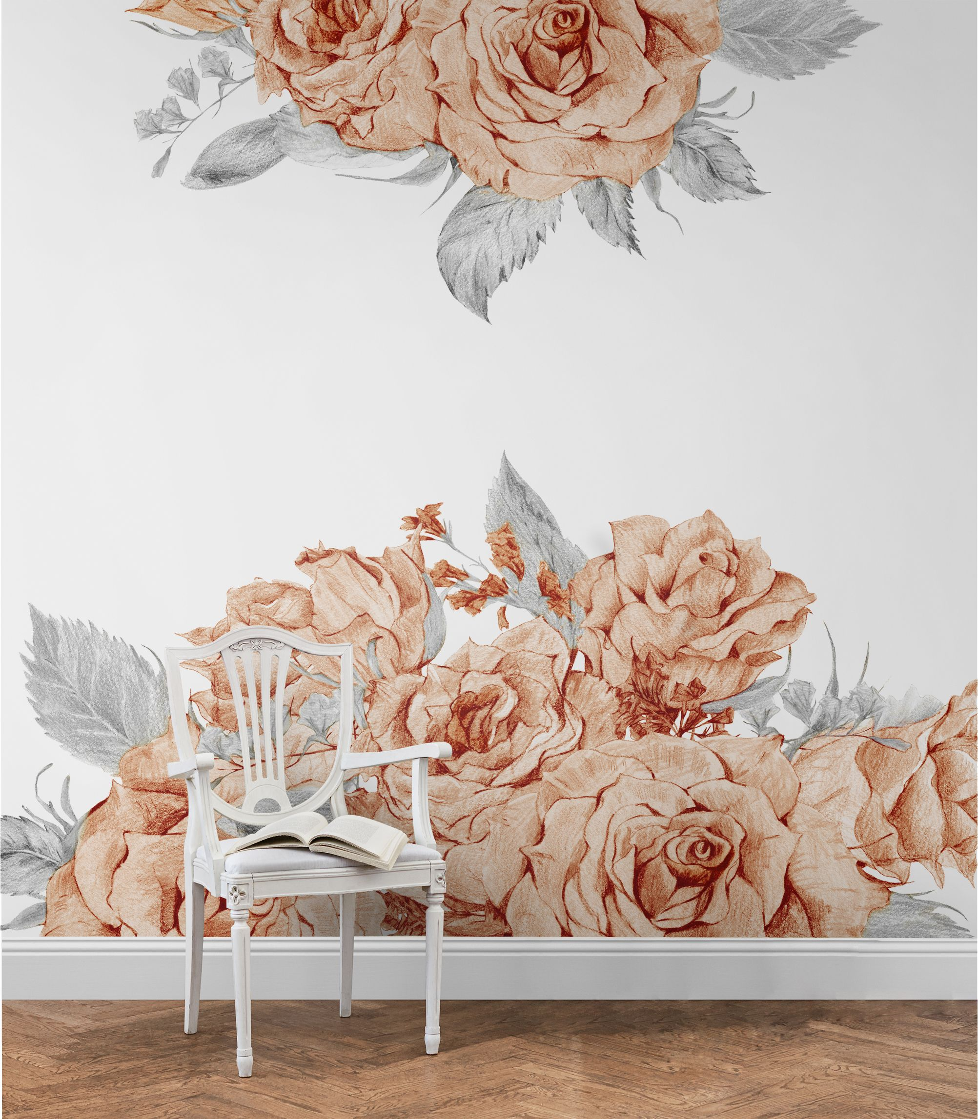 Blooming Rose Removable Wallpaper - Coloraydecorcom 9685X9685$260