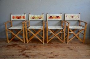 serie de chaise pliantes fauteuil de metteur en scene chaise d appoint camping jardin vintage