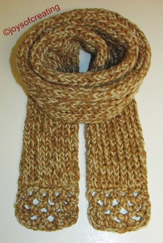 Tube scarf made on Martha Stewart Loom. With crocheted ends E.C.\'s ...