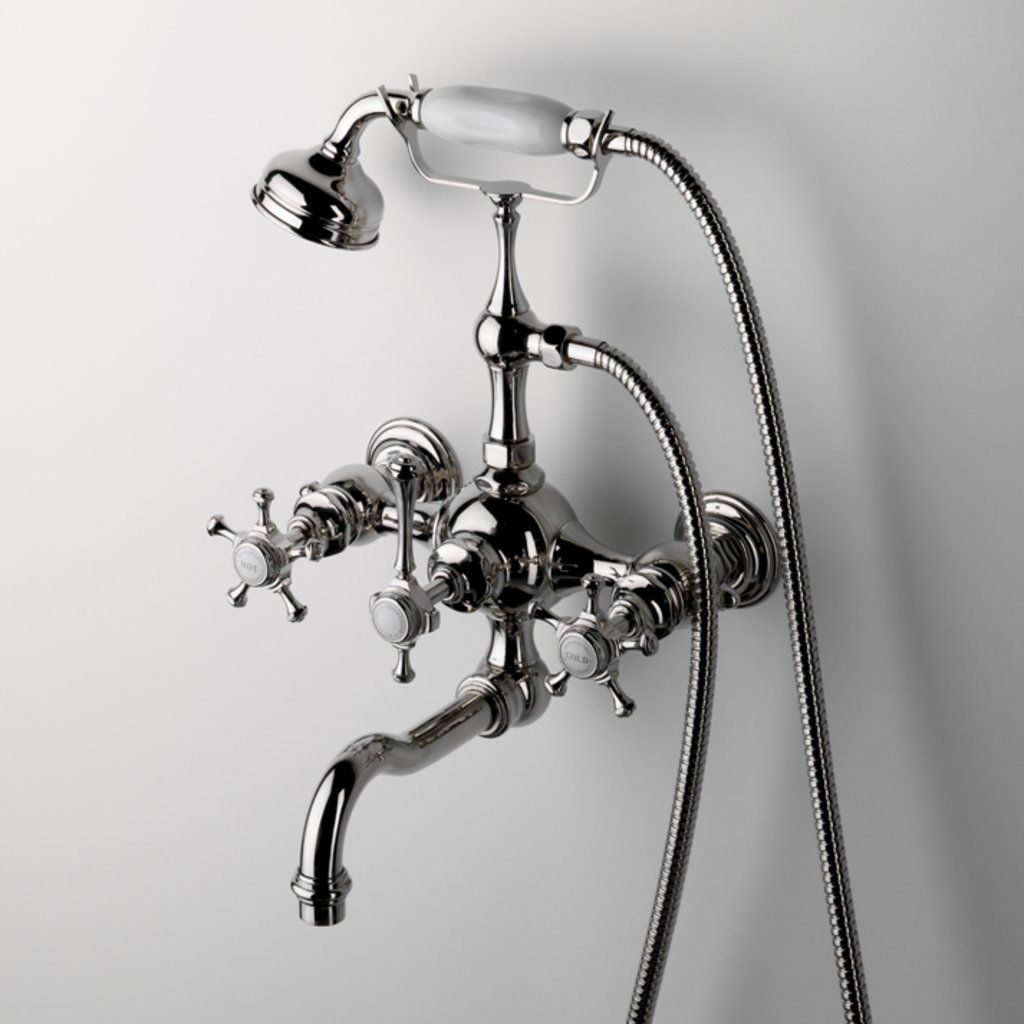 Exposed Tub Filler With Handshower And Cross Handles Products