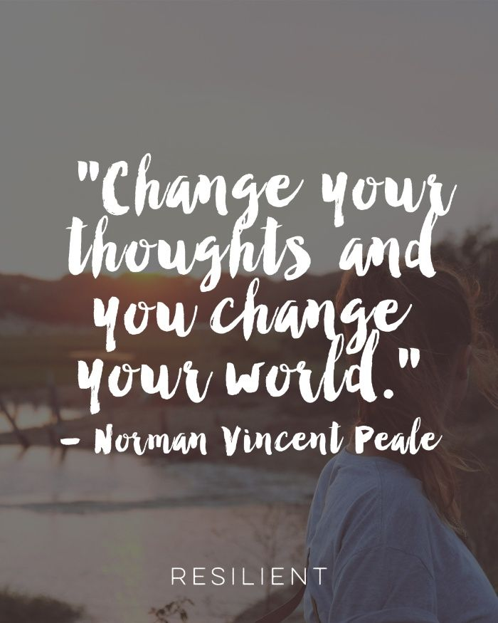 "Motivational Inspirational Quotes: ""Change Your Thoughts And You Change Your World."""