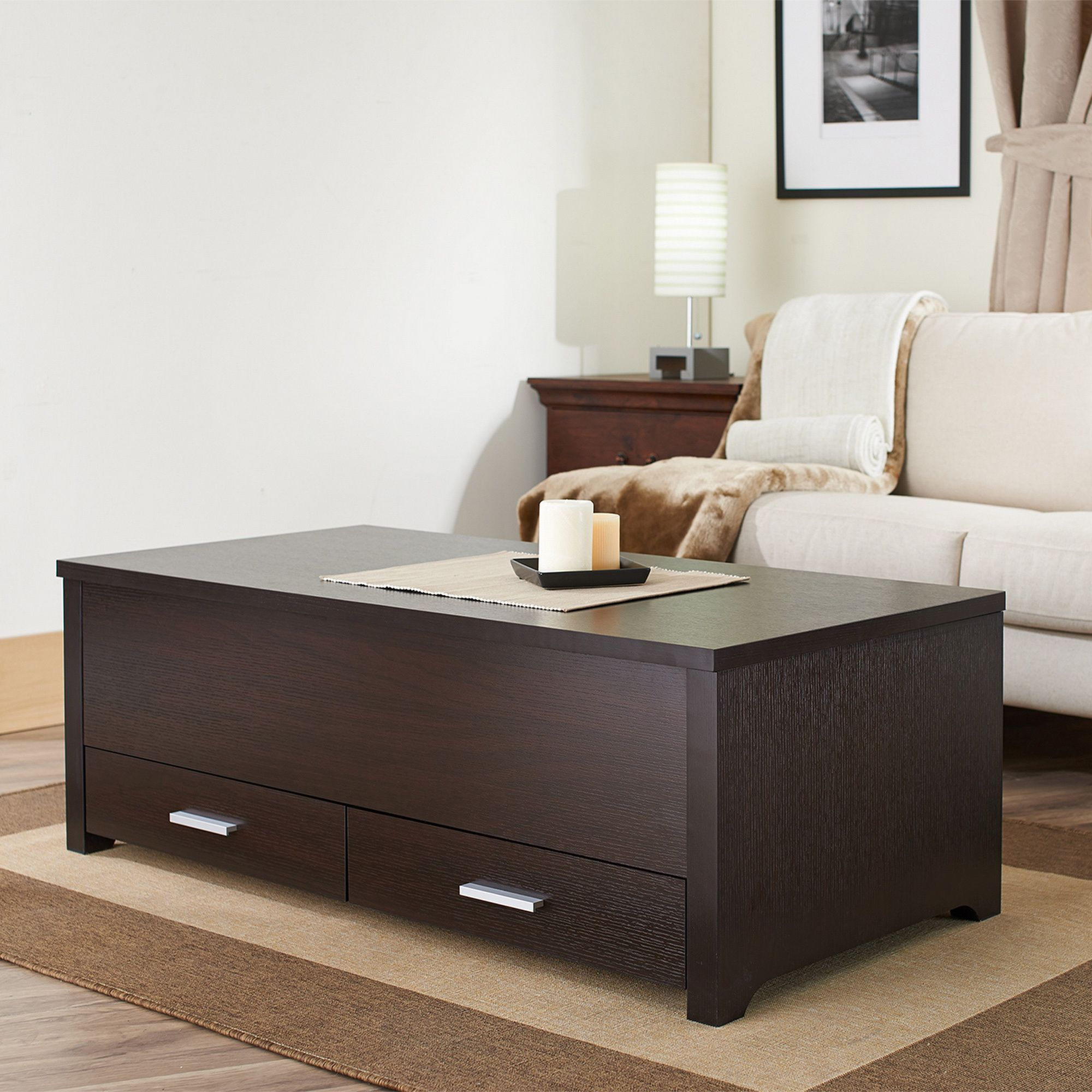 Furniture of America Knox Dark Espresso Storage Box Coffee Table (Espresso), Brown