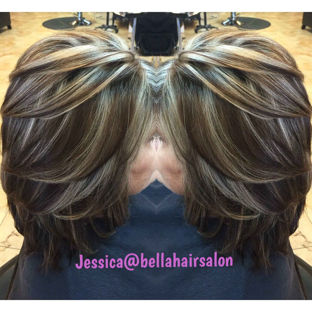 Chunky Highlights And Lowlights Hair Color Hair Styles