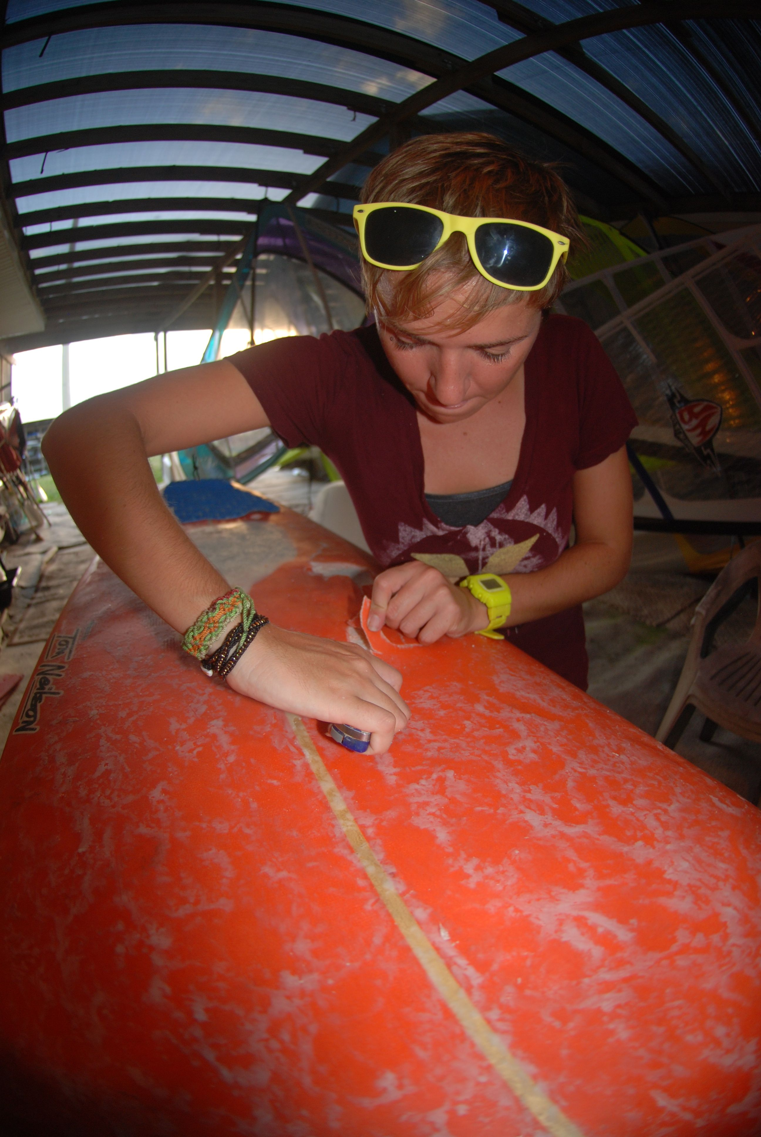Surfboard ding repair banana river resort pinterest surfboard