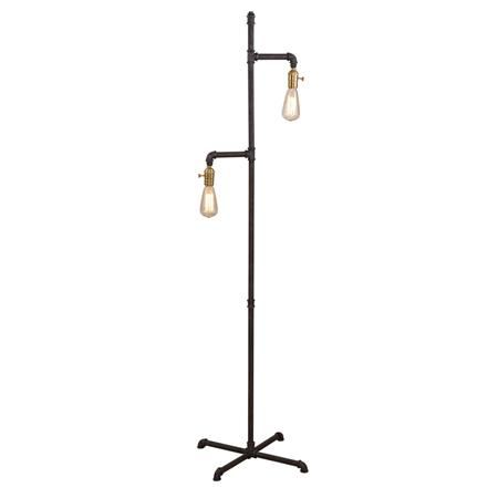 Industrial Pipe Floor Lamp Are These Older Bulbs