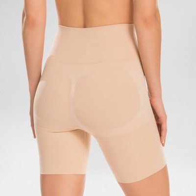 aba5f8e37c Assets by Spanx Women s Remarkable Results Mid-thigh Shaper - Nude ...