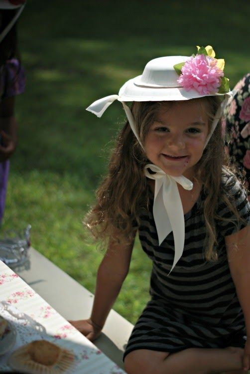 Paper plate and bowl tea party hat idea 38b13766167