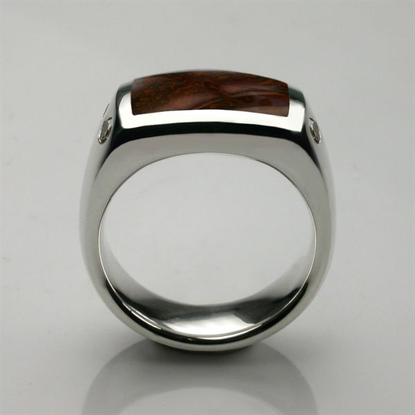 Oxford Signet Ring Silver Hand Cut Onyx Oxfords Ring and