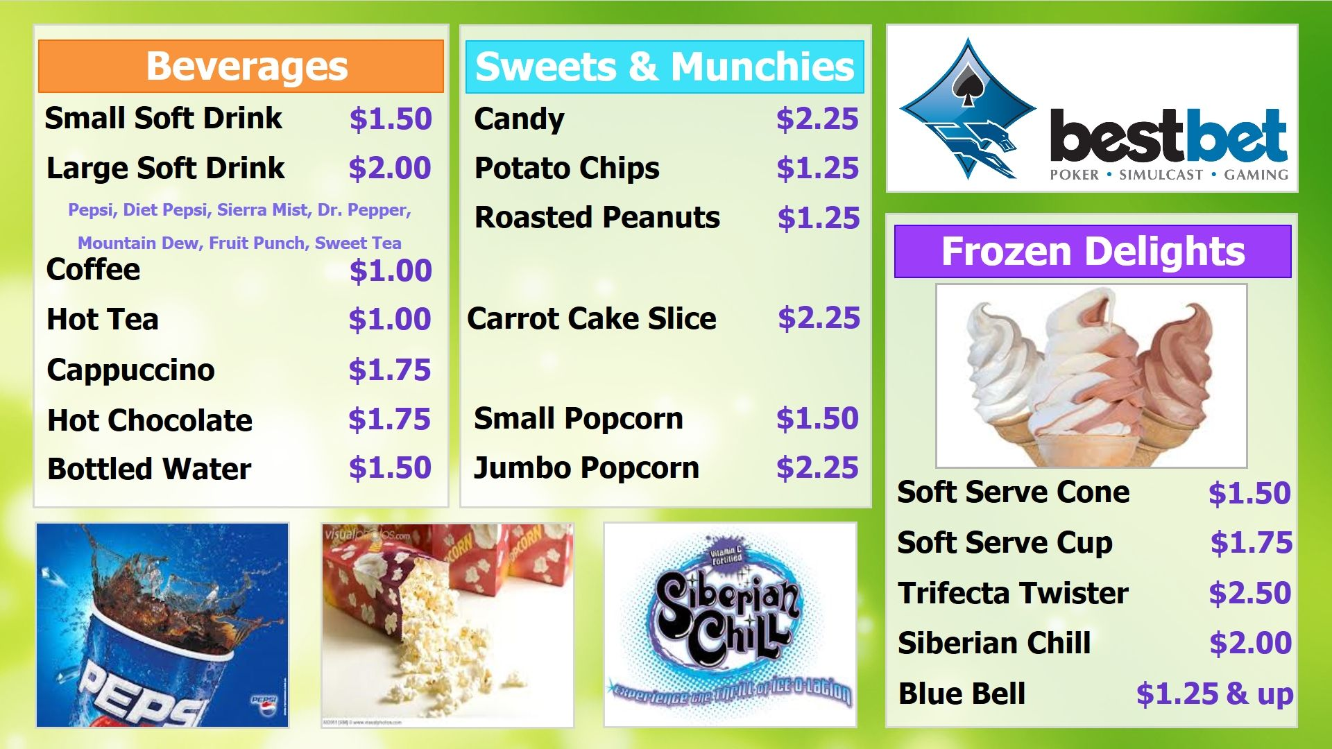 Little League Concession Stand Menu Sign  Concession Stand Menu