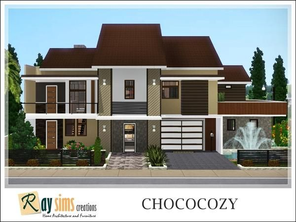 Chococozy modern house by ray sims sims 3 downloads cc for Modern house sims 3