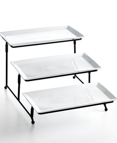 The Cellar Whiteware Serveware 3 Tier Server Created For Macy S