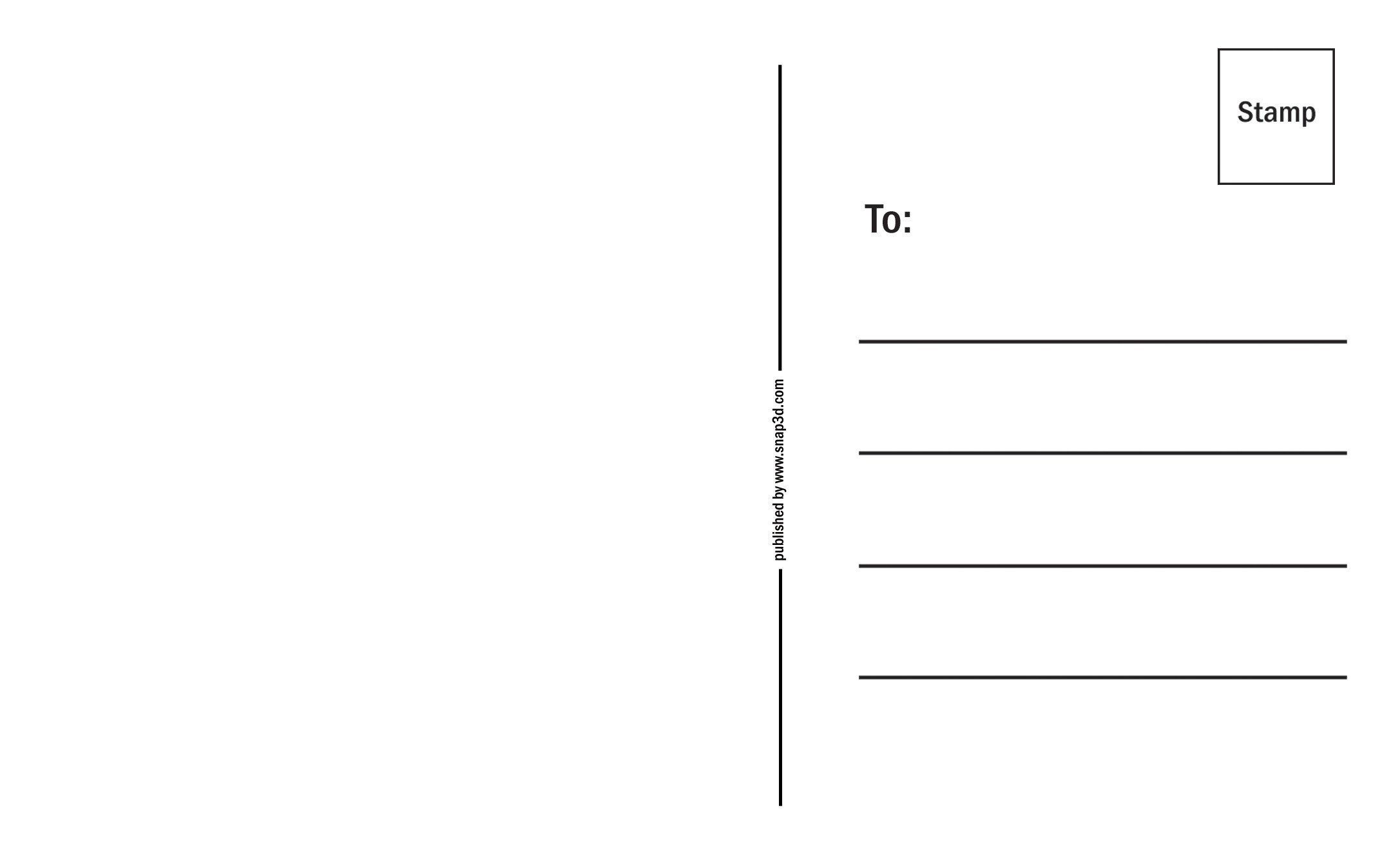 Back Of Postcard Template Back Of A Postcard Template Postcard Template Free Postcard Template Free Business Card Templates