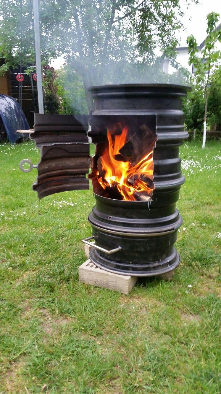felgen ofen selbst gebaut in 2019 diy wood stove fire. Black Bedroom Furniture Sets. Home Design Ideas