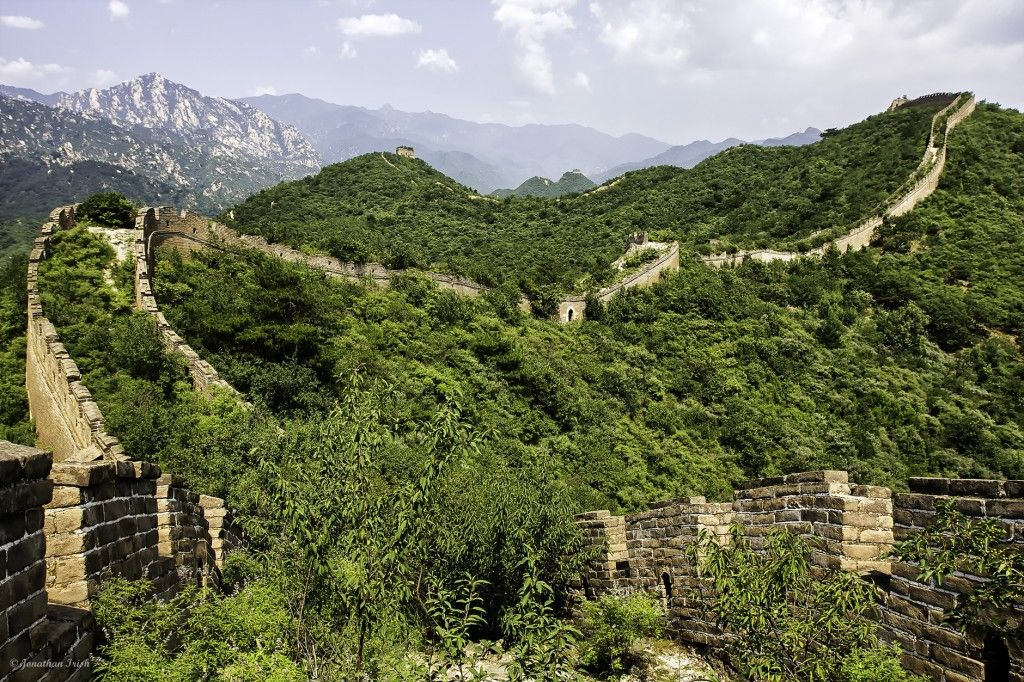 The wild Jiankou section of the Great Wall of China- See the full post here:http://www.jonathanirish.com/2013/02/18/the-wild-great-wall-of-china/