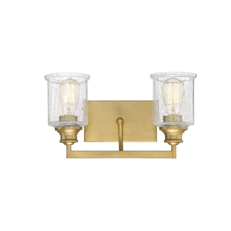 Photo of Savoy House 8-1972-2 Hampton 2 Light Bath Warm brass interior lighting Vanity Light bathroom fixtures