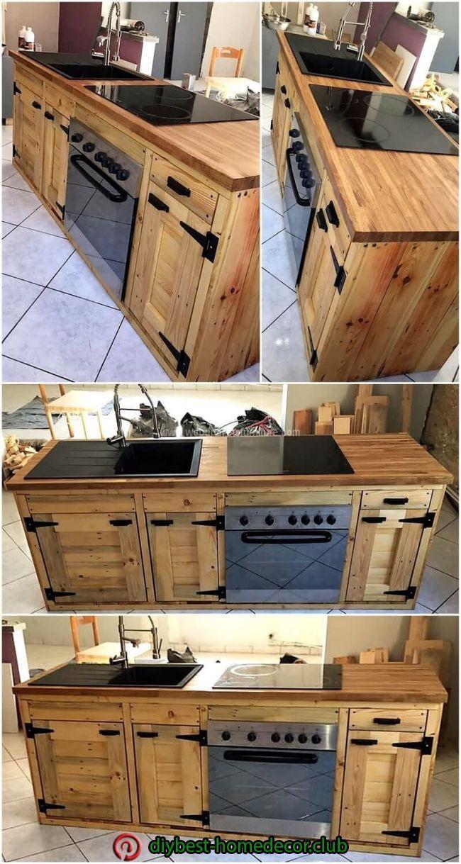 Diy Decorations Diy Decorations Pallet Kitchen Cabinets Pallet Kitchen Wooden Pallet Furniture