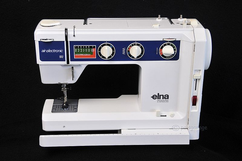 My Beloved Swiss Made Elna Air Electronic That I've Had Since The Magnificent Elna Sewing Machine Models