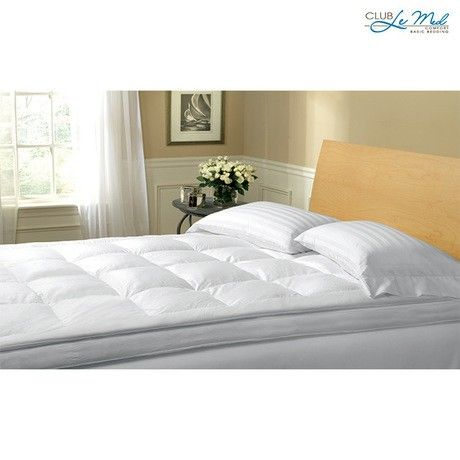 Club Le Med Luxurious Down Feather Mattress Topper Mattress Bed Bath And Beyond Bedding Basics