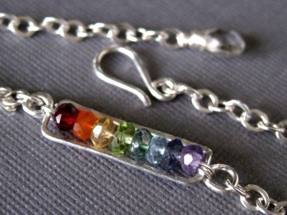 Rainbow on my Wrist sterling silver wire wrap by muyinmolly, $60.00