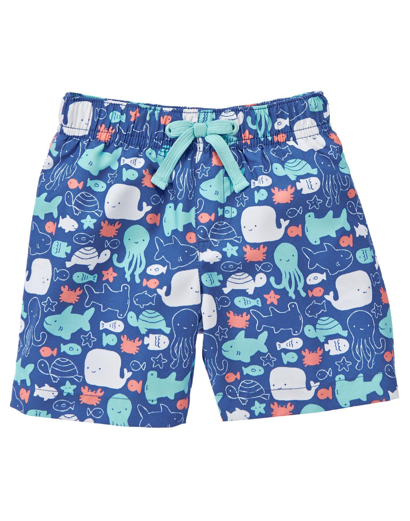 NWT Gymboree SEA SPLASH Floral Woven Shorts