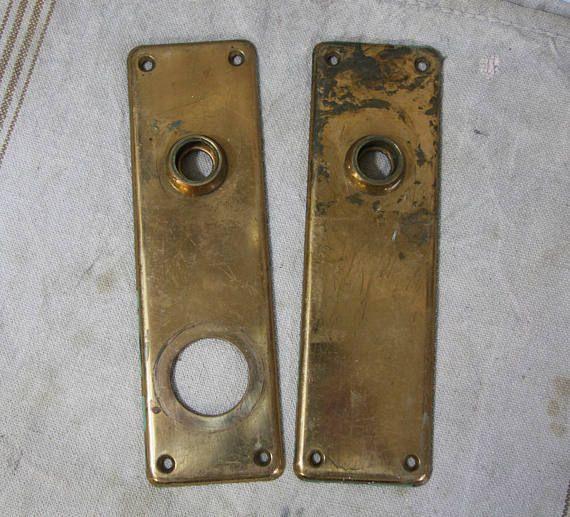 Vintage Matching ESCUTCHEON Back Plates-Ornate DOOR Hardware & Vintage Matching ESCUTCHEON Back Plates-Ornate DOOR Hardware ...