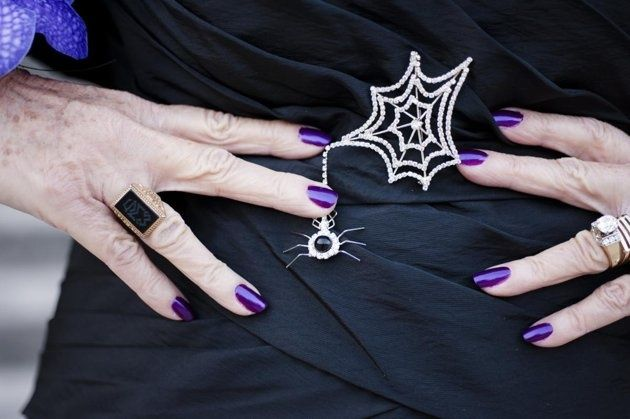 Really cute mother of the bride spiderweb  broach