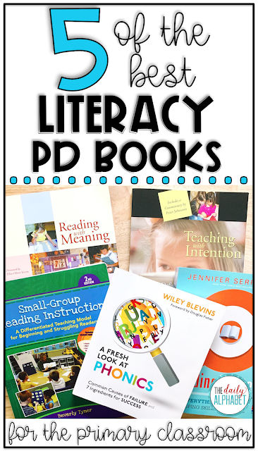 5 of the Best Literacy PD Books is part of Professional development for teachers, Professional development books, Literacy, Professional development activities, Literacy coaching, Teaching comprehension - Are you a teacher who is looking to improve their practice in literacy  Here is a list of 5 great professional development books to help you along the way!
