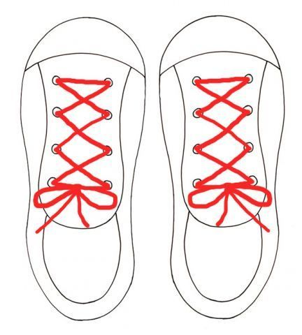 Printable Lacing Shoe Template Teaching Tool For Kids To Learn Lace And Tie Shoes