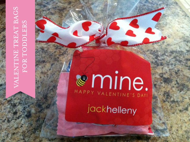 Valentine Treat Bags For Toddlers With Erin Condren Waterproof Gift Labels Goldfish M S And Y Tiny Play Doh