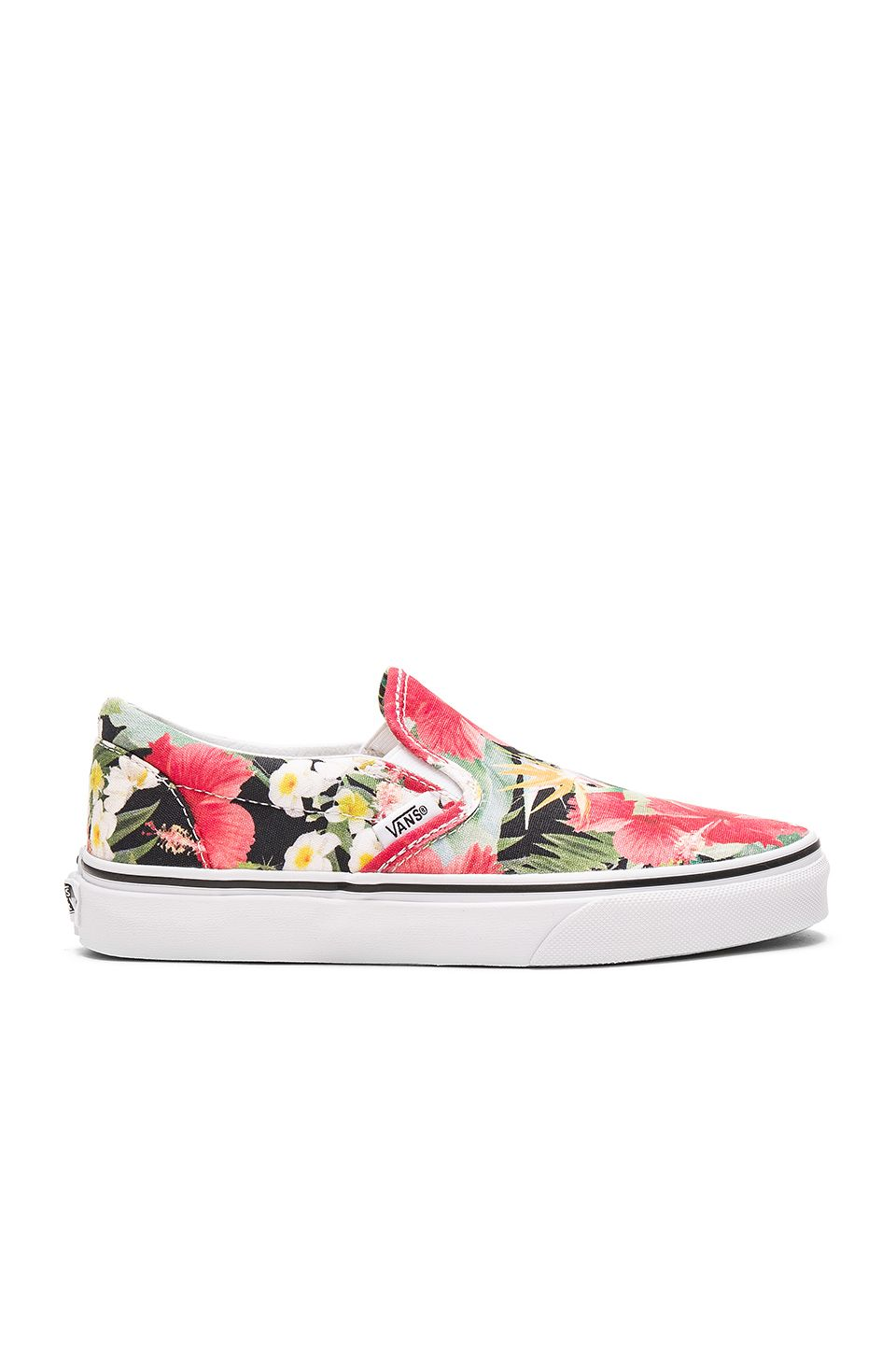 38c27ae045 Vans Digi Aloha Classic Slip On in Black   True White