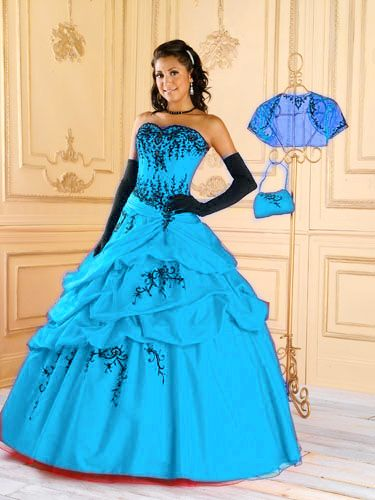 Ball gown quinceanera gowns G71555-13,Aqua Quinceanera Dresses,sweet ...