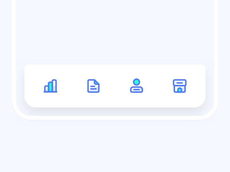Tab Bar Icon Icon App Design Design Template