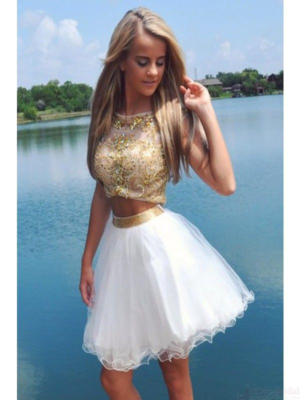 dae3cc40154 two piece gold bodice homecoming dress  SIMIBridal  homecoming