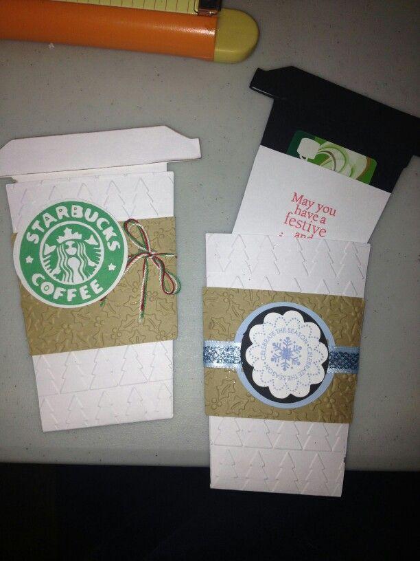 Coffee Cup Gift Card Holder Starbucks Birthday Handmade Cards Wishes Diy