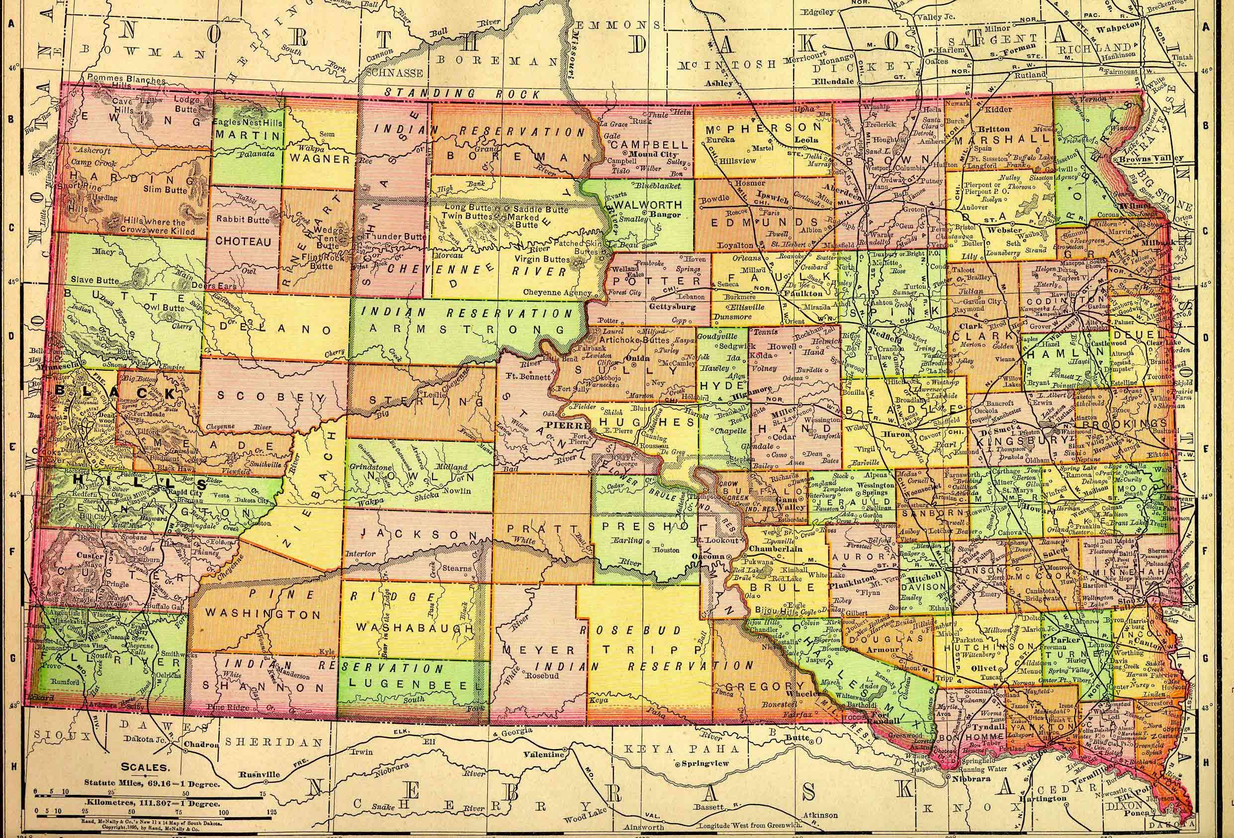 Old SD Map My Home South Dakota Pinterest Vintage A Thing - Map of south dakota