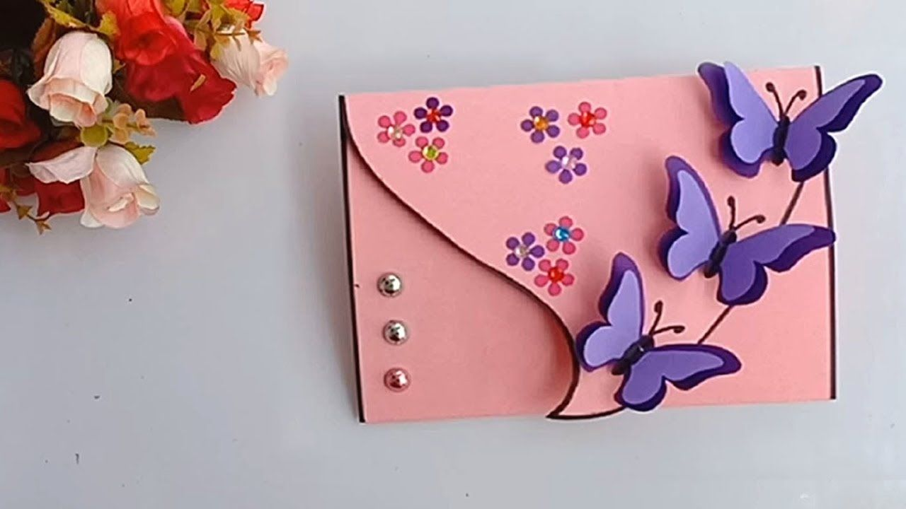 handmade birthday butterfly card  diy greeting card idea