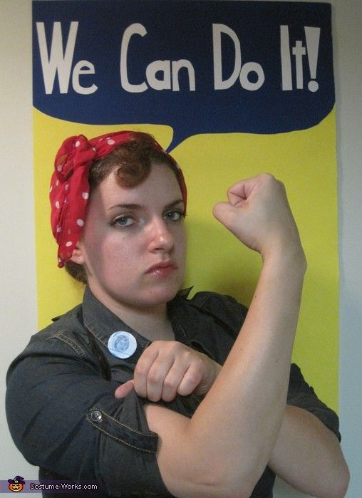 rosie the riveter Too Cute to Spook Pinterest