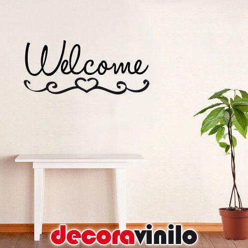Vinilo decorativo pegatina pared welcome frase bienvenida - Pegatinas pared frases ...