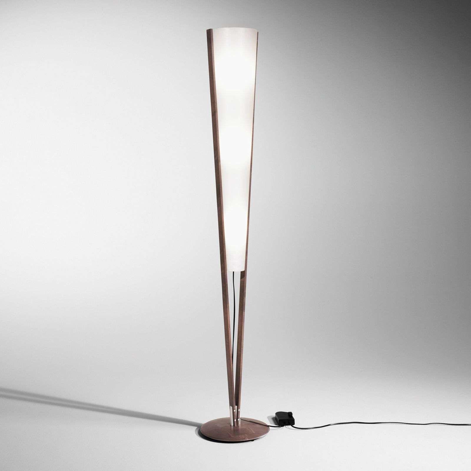 Vloerlamp Seba Met Voetdimmer Kastanjeolie Vloerlamp Lampen Lampen Zuiver
