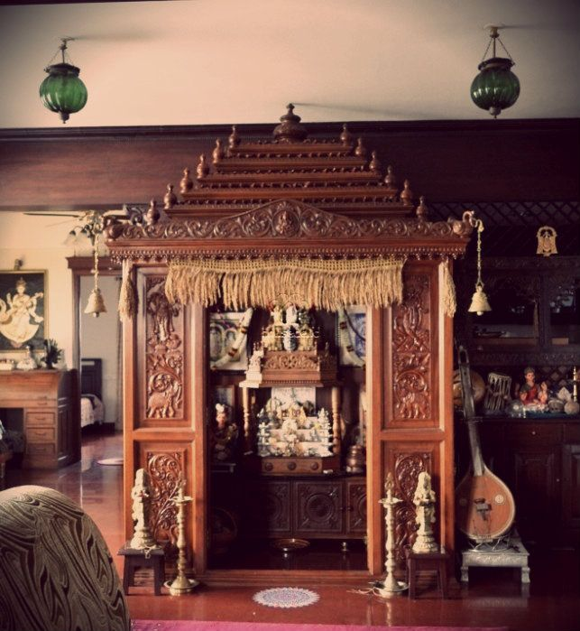 A traditional south indian home with a beautifully craved Home decoration tips in marathi