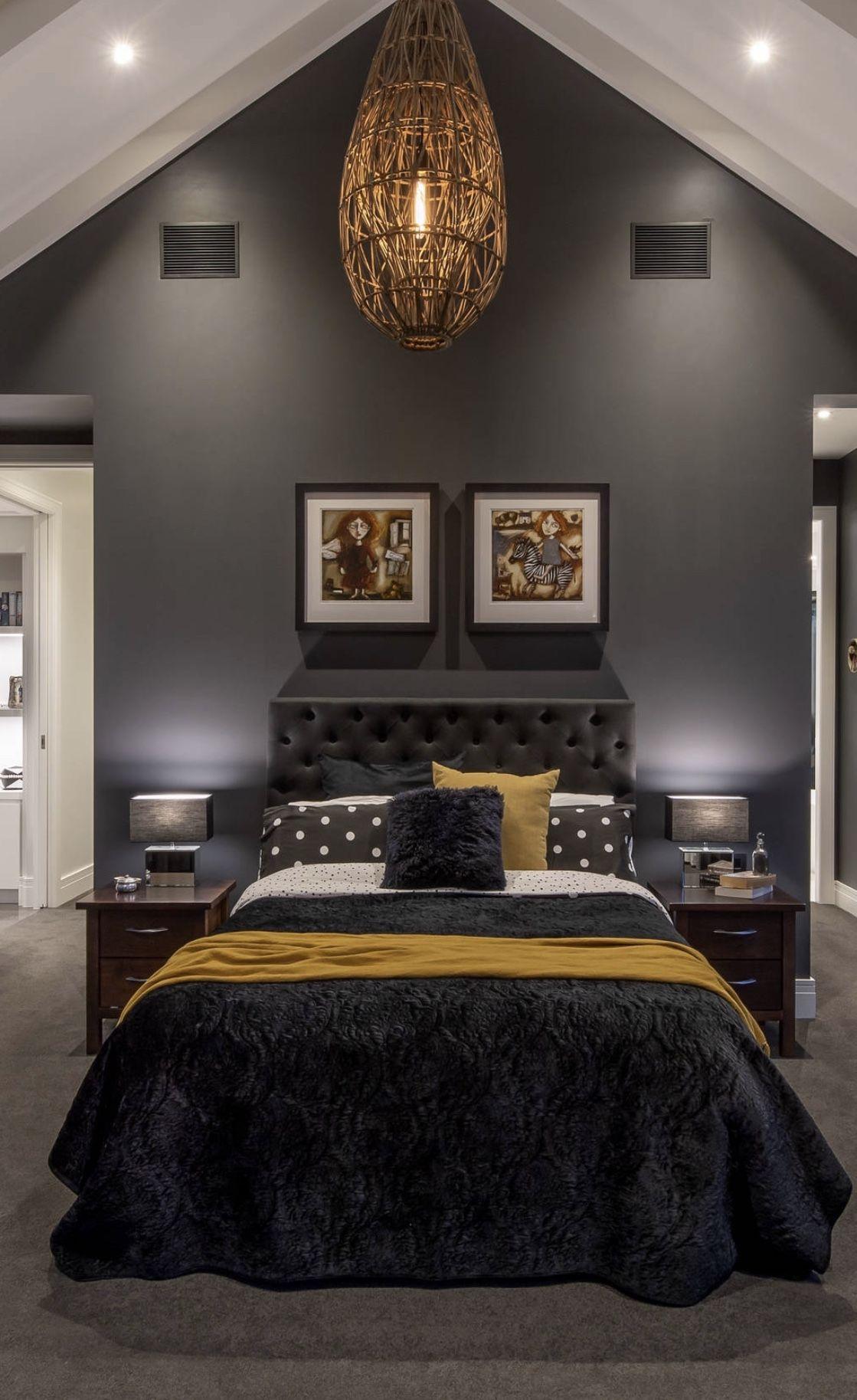 Beautiful Black Bedroom Black Decor Black Bed Black Bedding Sheets