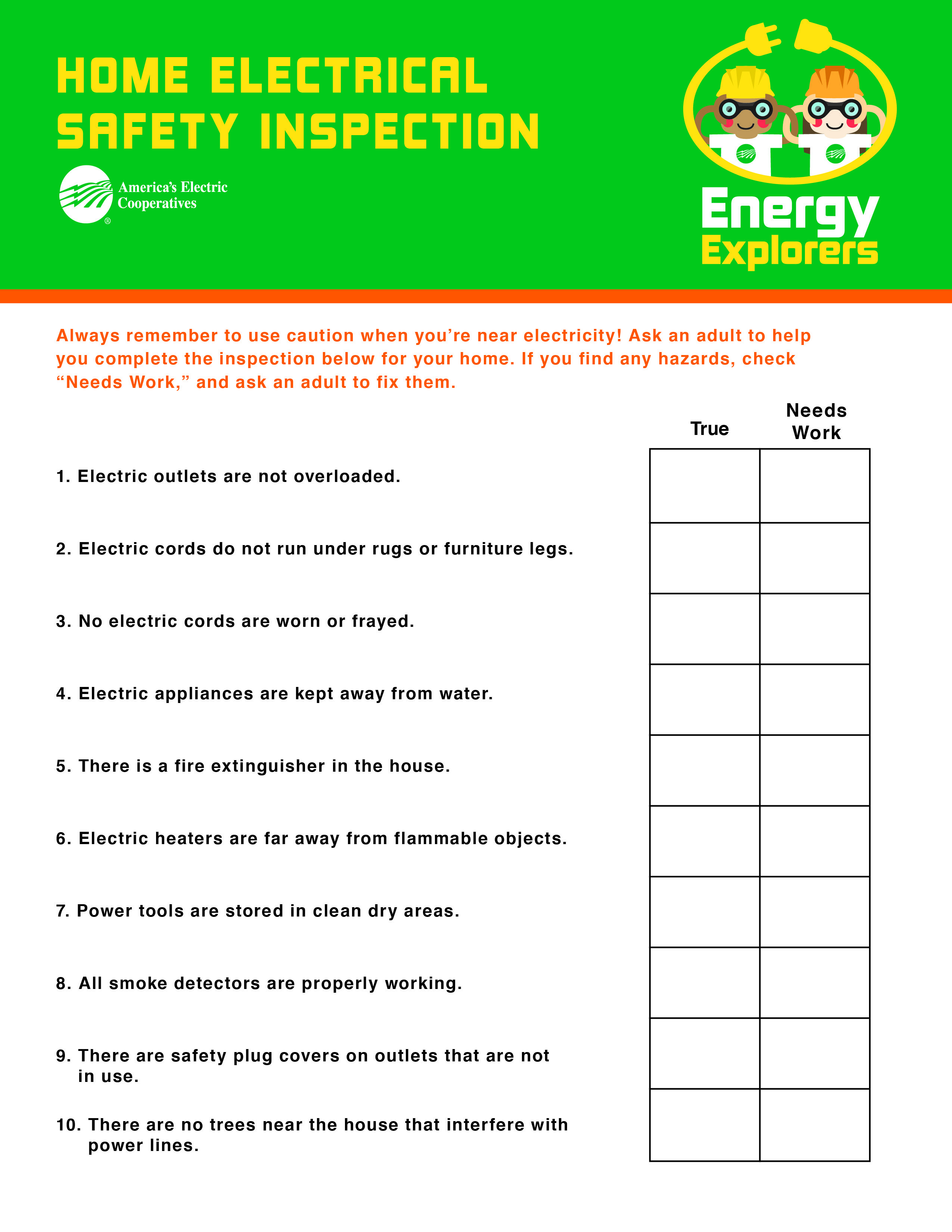 Teach Students About Electricalsafety With This Take Home