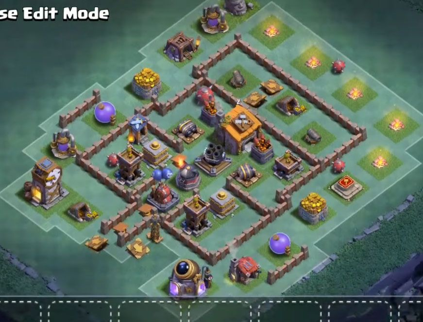 12 Best Builder Hall 6 Base Links Anti 1 Stars 4000 Clash Of Clans Clan Base