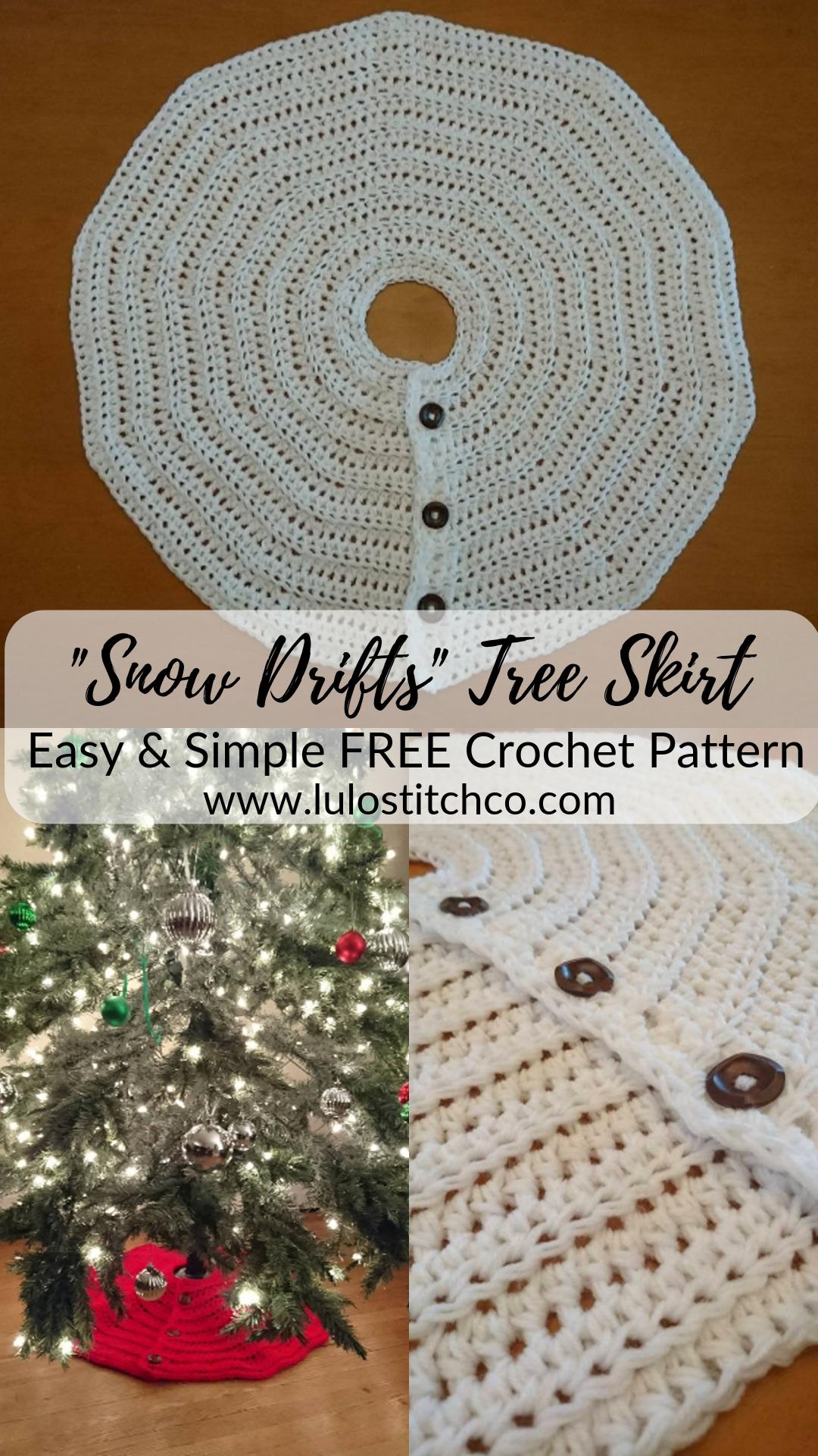 Snow Drift Christmas Tree Skirt