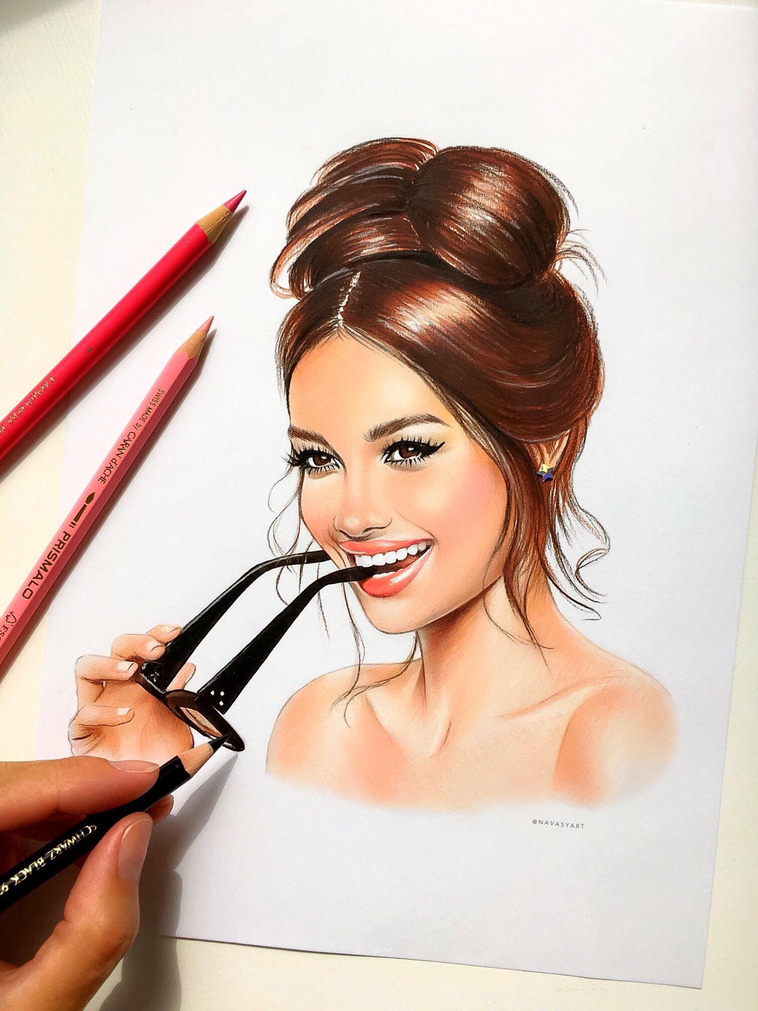 Рисунки милые женщины
