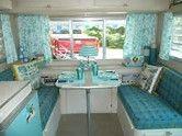 Afbeeldingsresultaten voor vintage camper interiors