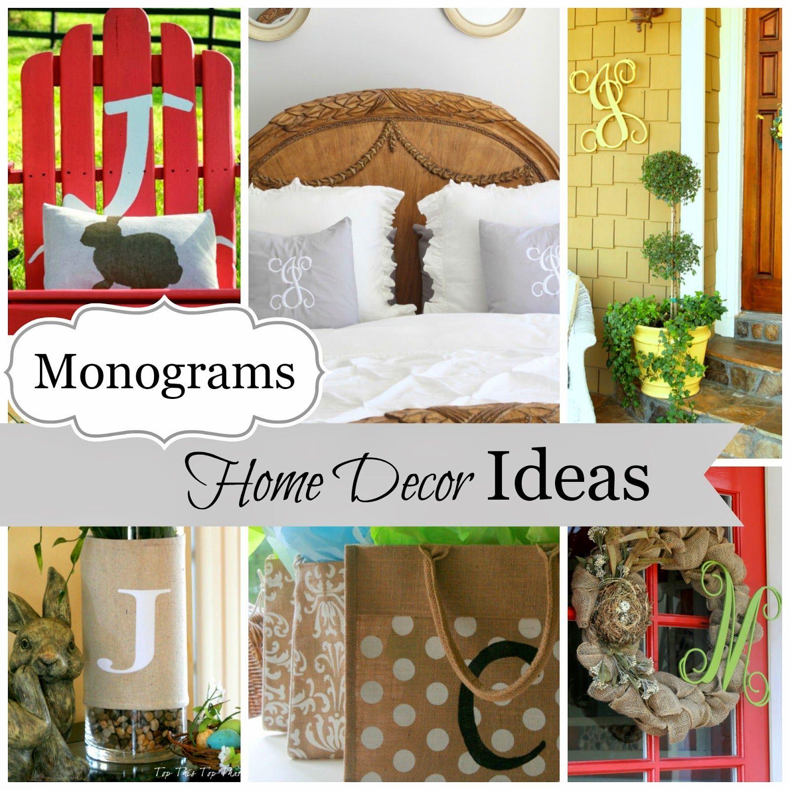 Great monogram ideas for your home decor manualidades for Ideas creativas para el hogar