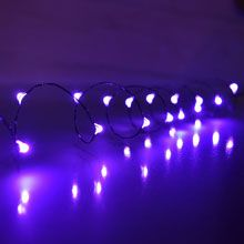 Wire / DIY / Craft / Hanging / String Lights / Purple LED Mini Party ...