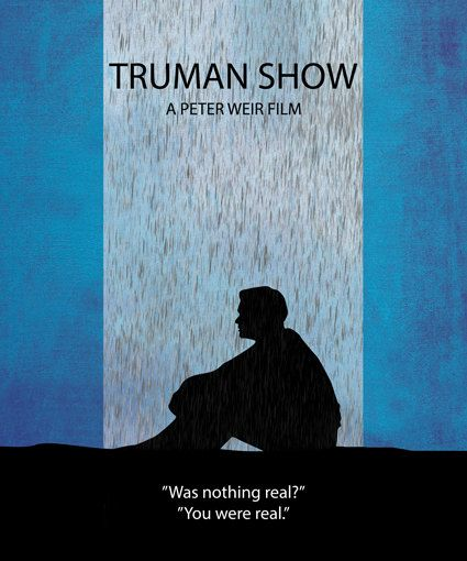 THE TRUMAN SHOW Movie PHOTO Print POSTER Textless Film Art Jim Carrey Comedy 001
